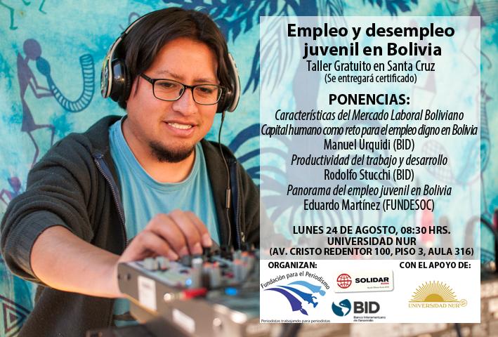 Santa Cruz, Taller Empleo y Desempleo Juvenil en Bolivia