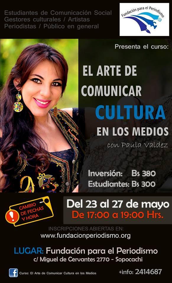 Curso: El Arte de Comunicar Cultura en los Medios