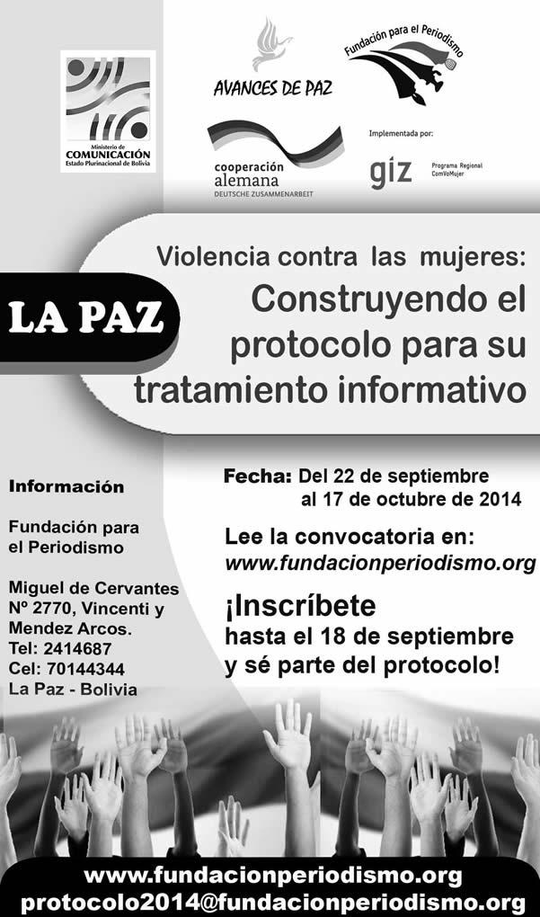 Violencia contra las mujeres: Construyendo el protocolo para su tratamiento informativo