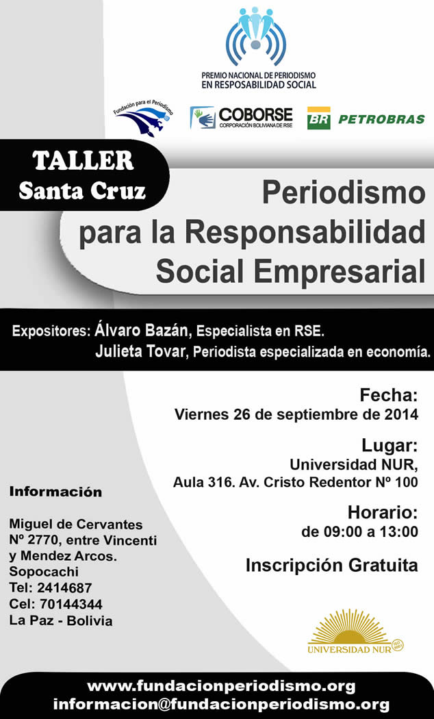 Santa Cruz: Taller de Periodismo para la Responsabilidad Social Empresarial