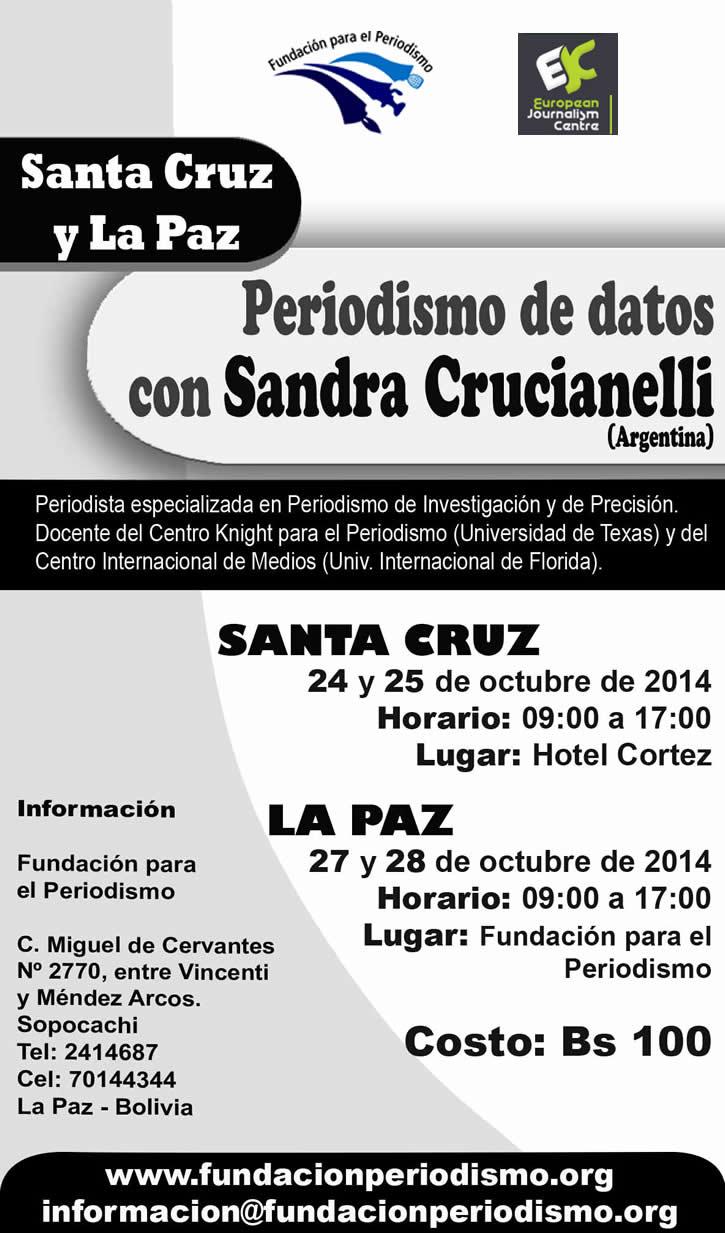 Santa Cruz y La Paz, Taller de Periodismo de datos con Sandra Crucianelli