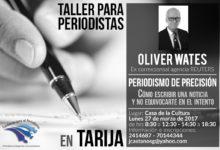 Oliver Wates – Taller para periodistas en Tarija