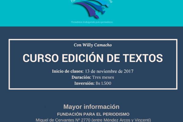 Edición de Textos con Willy Camacho