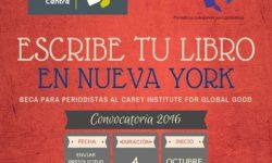 CONVOCATORIA: BECA PARA PERIODISTAS AL CAREY INSTITUTE FOR GLOBAL GOOD