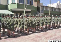 La mujer en las fuerzas policiales