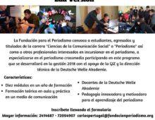 PROGRAMA DE FORMACIÓN DUAL EN PERIODISMO