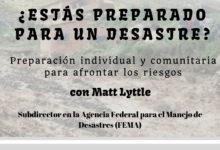¿Estás preparado para un desastre? Preparación individual y comunitaria para afrontar los riesgos