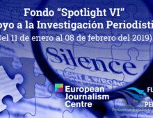 Convocatoria Fondo Spotlight VI